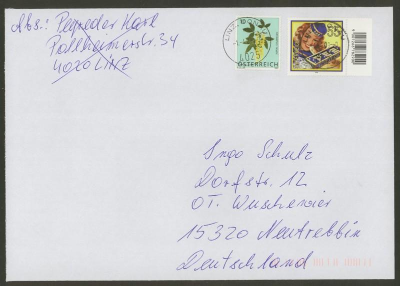 Österreich - Briefe an Cantus 3110