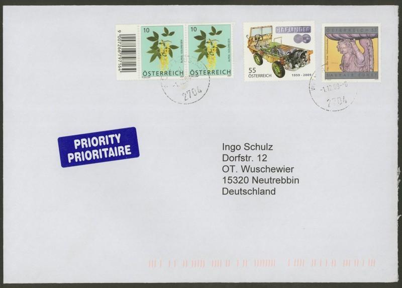 Österreich - Briefe an Cantus 3510