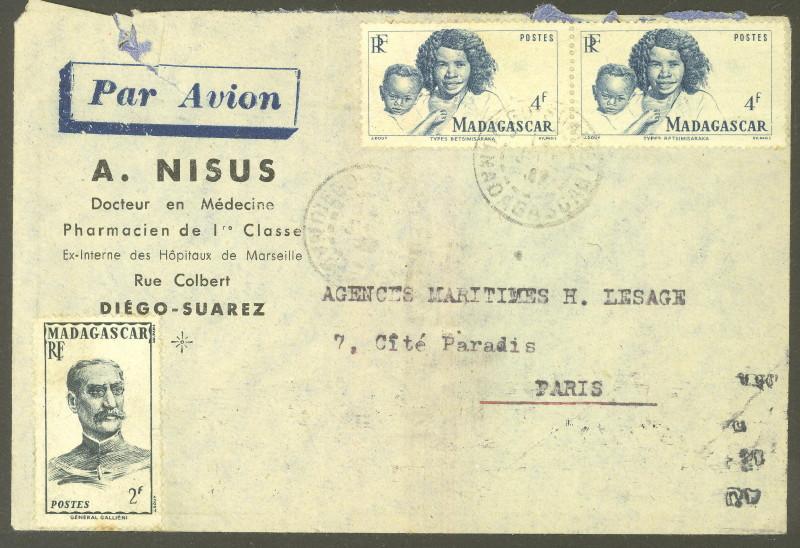 Briefmarken - Madagaskar - Frankaturen und Briefmarken 396_3910