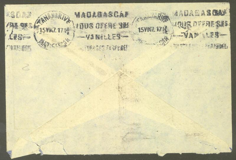 Briefmarken - Madagaskar - Frankaturen und Briefmarken 396_3911