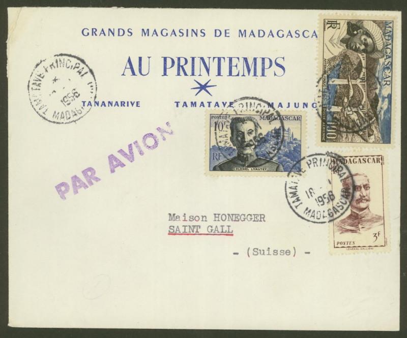 Briefmarken - Madagaskar - Frankaturen und Briefmarken 397_4210