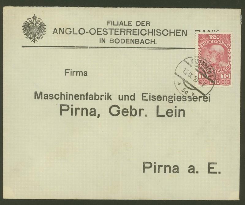 Briefe / Poststücke österreichischer Banken Anglo-10