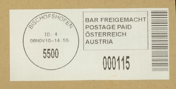Bar-Codes in Österreich Bischo10