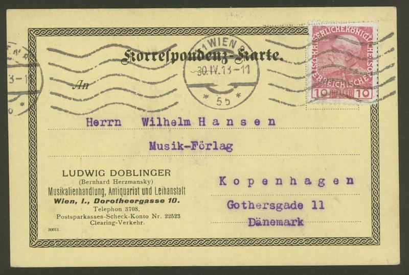 Frankierte Firmenpostkarten vor dem 1. Weltkrieg Firmen10
