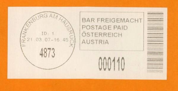 Bar-Codes in Österreich Franke10
