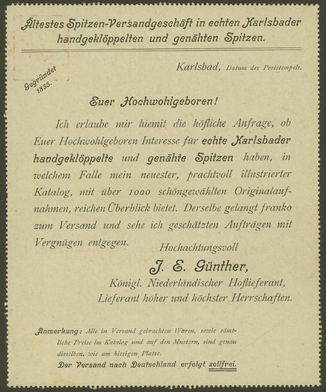 Amtliche Kartenbriefe mit privaten Textzudrucken K_47_211