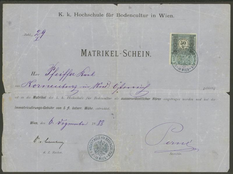 Die Verwendung von Fiskalmarken in Österreich Matrik10