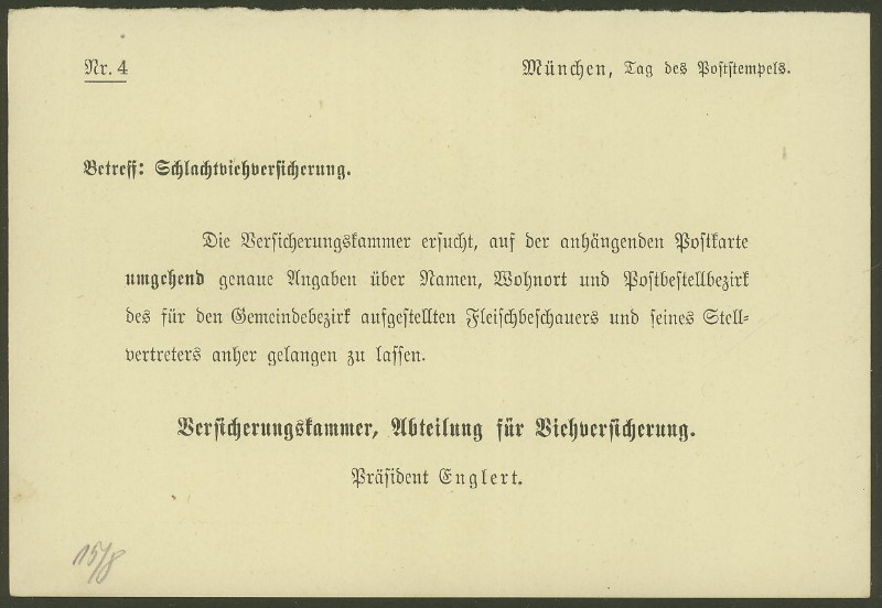 Deutsches Reich  -  Dienstmarken Mynche10