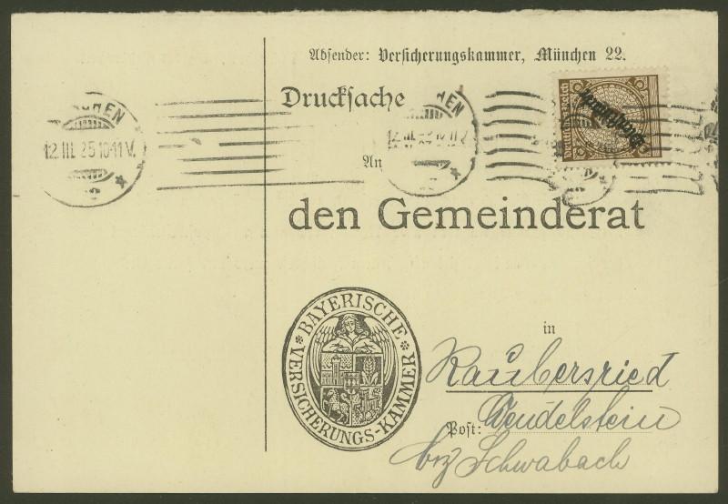 Deutsches Reich  -  Dienstmarken Mynche12