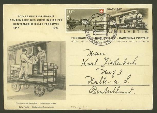 schweiz - Motiv Eisenbahn   -   Bildpostkarten der Schweiz P_212_18