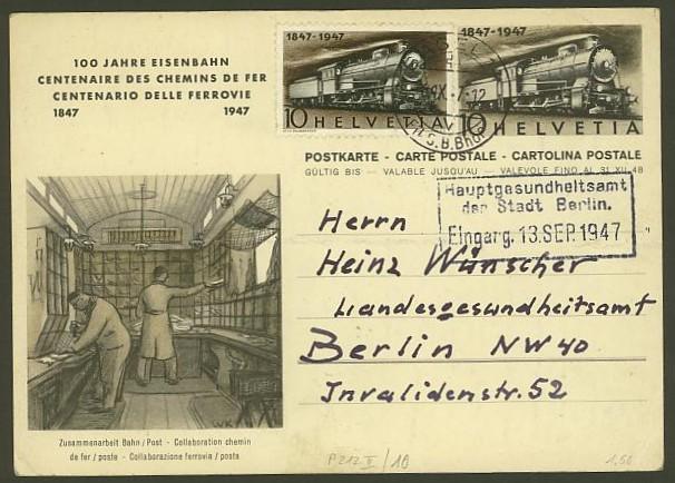 schweiz - Motiv Eisenbahn   -   Bildpostkarten der Schweiz P_212_19