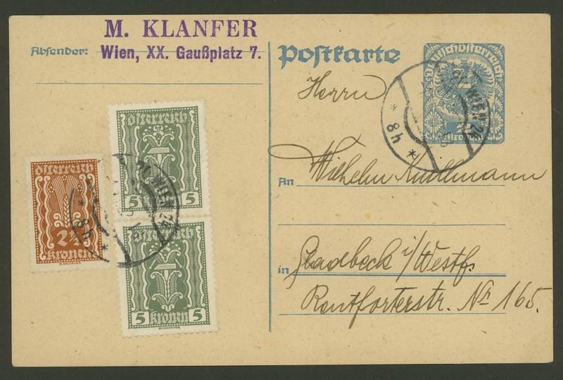 """Postkartenserie """"Neuer Wappenadler"""", Inschrift """"Deutschösterreich"""" P_24710"""