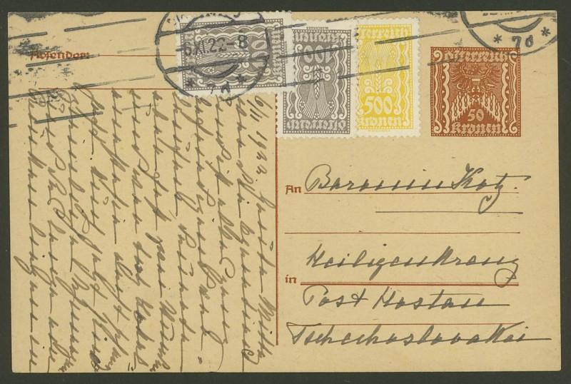 """Postkartenserie """"Quadratischer Wertstempel - Wertziffer im Dreieck"""" 1922-24 - Seite 3 P_25410"""