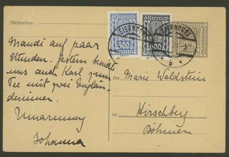 """Postkartenserie """"Quadratischer Wertstempel - Wertziffer im Dreieck"""" 1922-24 - Seite 3 P_25710"""
