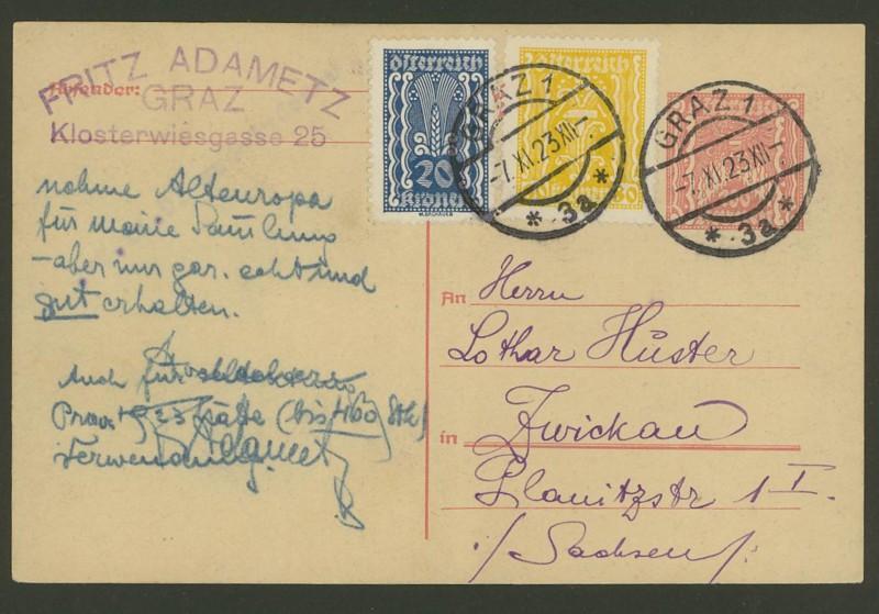 """Postkartenserie """"Quadratischer Wertstempel - Wertziffer im Dreieck"""" 1922-24 - Seite 3 P_25910"""