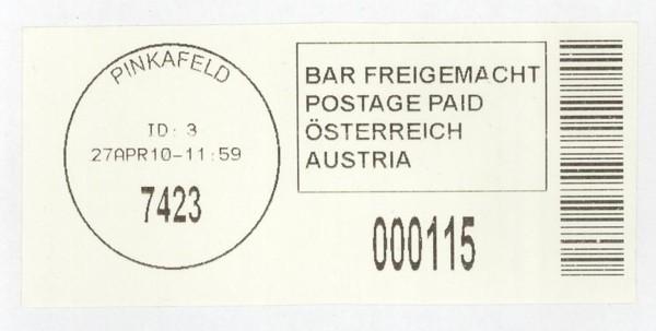Bar-Codes in Österreich Pinkaf10