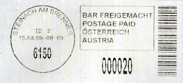 Bar-Codes in Österreich Steina10