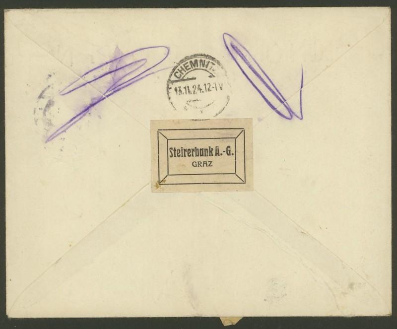 Briefe / Poststücke österreichischer Banken Steire11