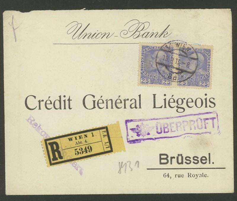 Briefe / Poststücke österreichischer Banken Union_10