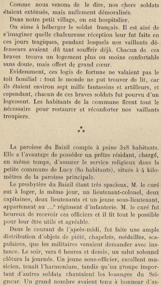 Abbé ROUTHIER - Les Prussiens au BAIZIL - Septembre 1914 09_not10