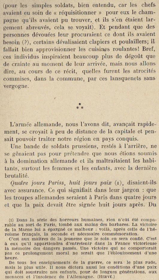 Abbé ROUTHIER - Les Prussiens au BAIZIL - Septembre 1914 13_not10