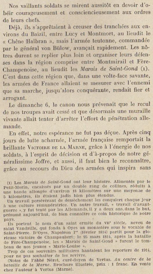 Abbé ROUTHIER - Les Prussiens au BAIZIL - Septembre 1914 16_not10