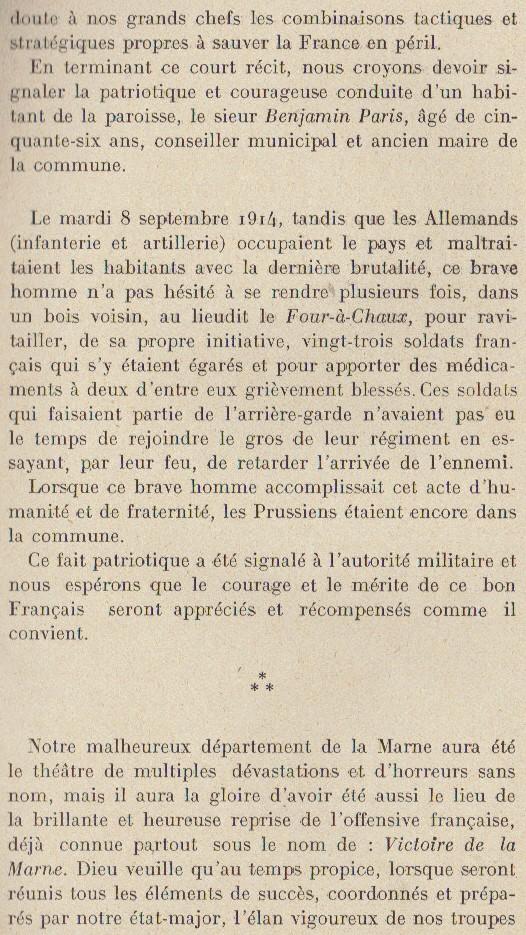Abbé ROUTHIER - Les Prussiens au BAIZIL - Septembre 1914 17_not10