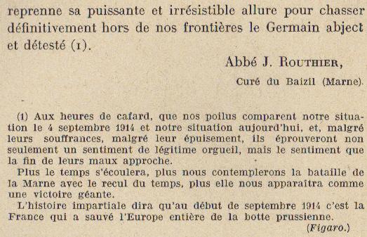 Abbé ROUTHIER - Les Prussiens au BAIZIL - Septembre 1914 18_not10