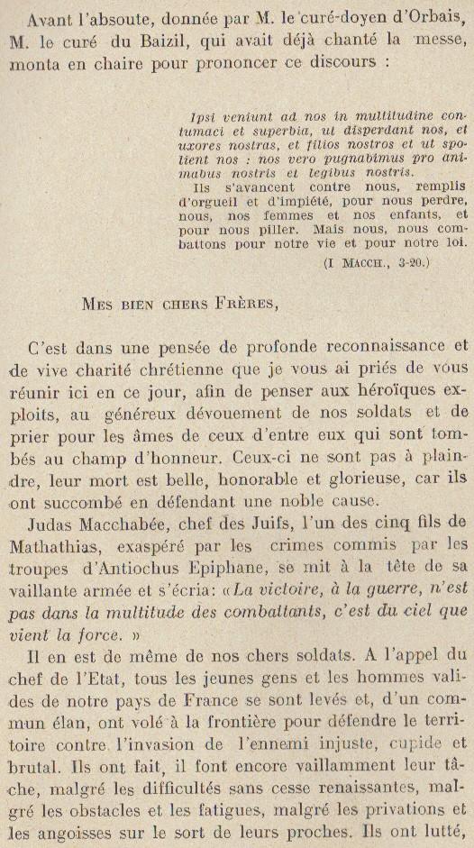 Abbé ROUTHIER - Les Prussiens au BAIZIL - Septembre 1914 21_mem10