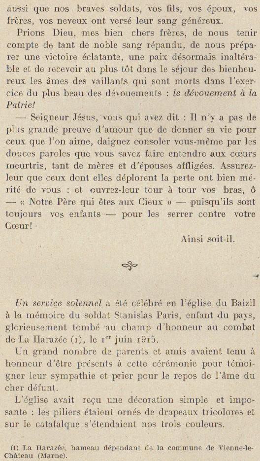 Abbé ROUTHIER - Les Prussiens au BAIZIL - Septembre 1914 25_mem10