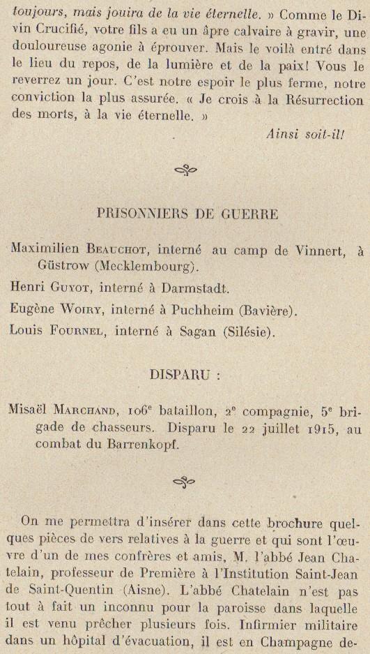 Abbé ROUTHIER - Les Prussiens au BAIZIL - Septembre 1914 28_mem10