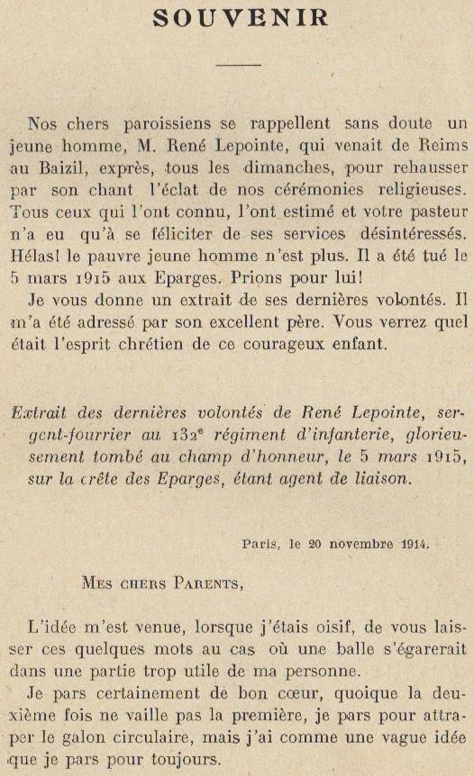Abbé ROUTHIER - Les Prussiens au BAIZIL - Septembre 1914 35_sou10