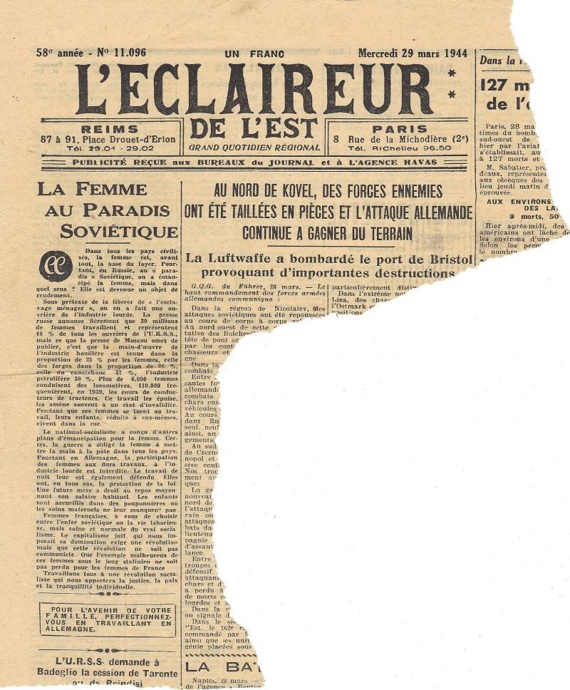 La Presse locale pendant l'Occupation L_ecla10
