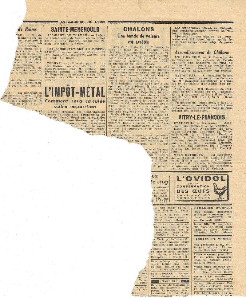 La Presse locale pendant l'Occupation L_ecla11