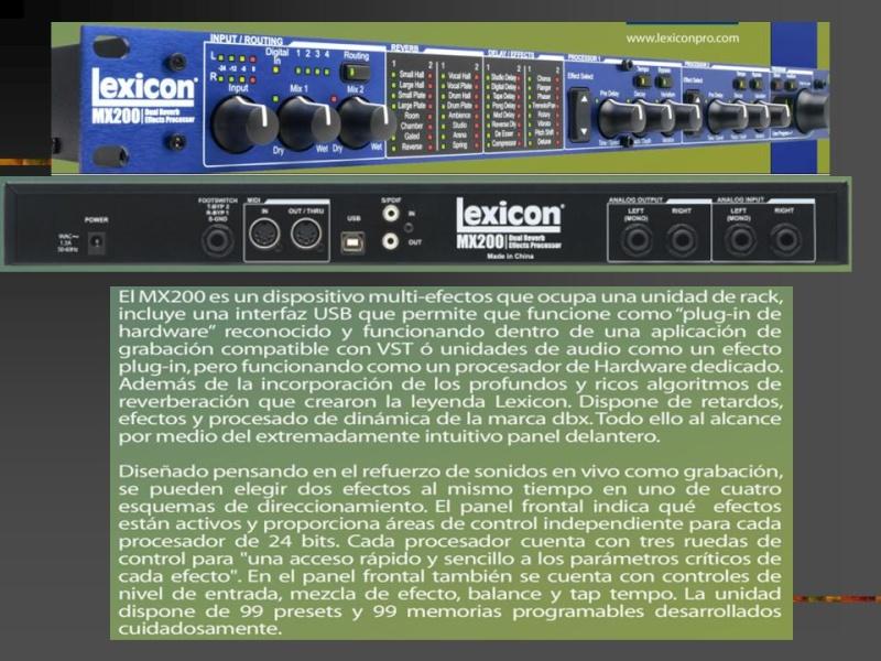 PROCESADOR LEXICON MX200 Diapos12