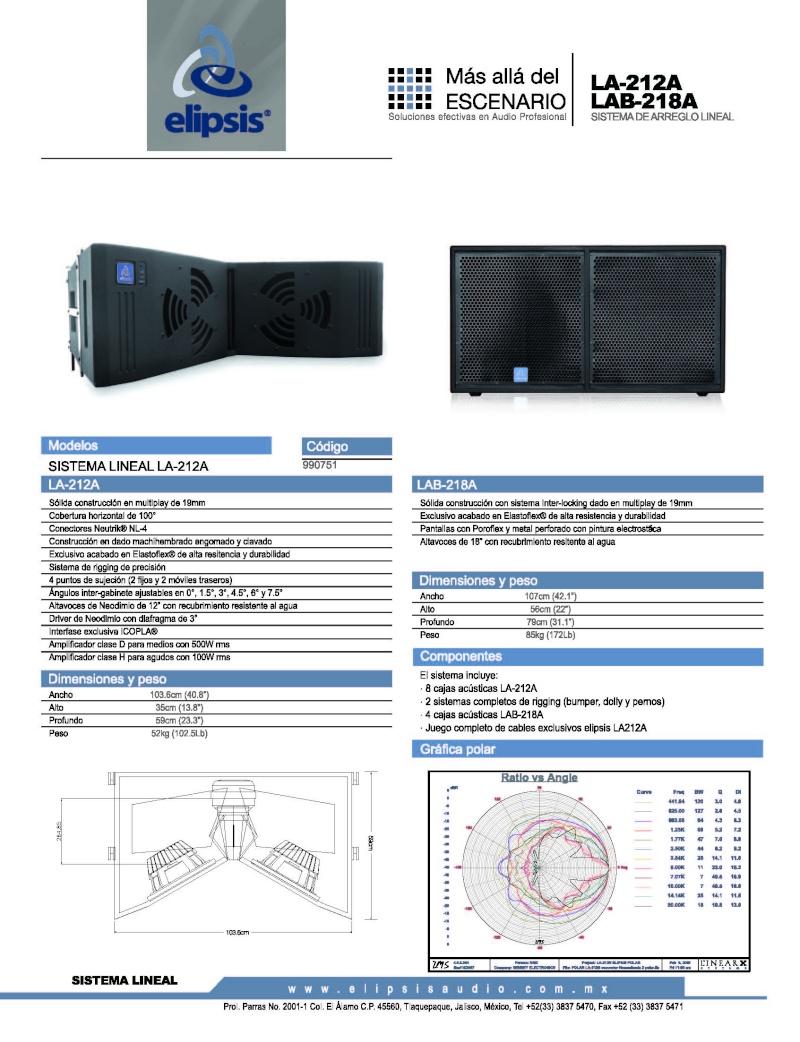 Sistema Lineal Elipsis LA-212A La212_10