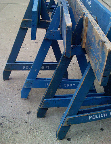 Baricade de police New York 15899010
