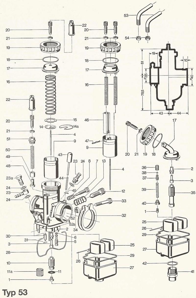 carburateurs r 60 / 6 Carbu610