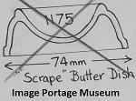 1175 Scrape Butter Dish  1175_s10