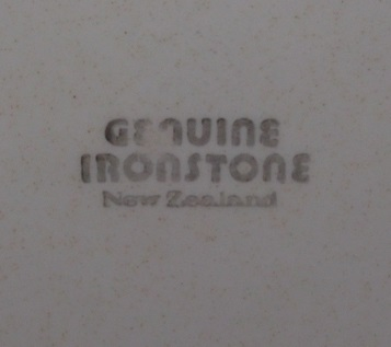 Genuine Ironstone No Name Pattern Dscf3117