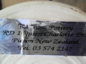 Renate von Petersdorff of Picton made this bowl and dish,  Tai_ta10