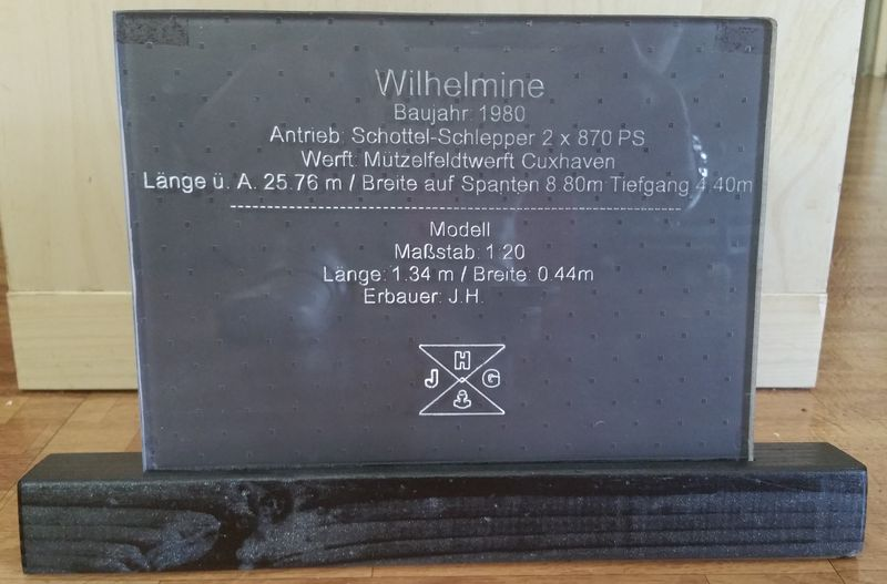 Hafenschlepper WILHELMINE 1:20 BAUBERICHT - Seite 4 Wilhe100