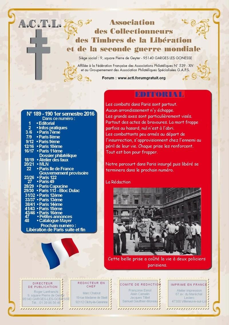 LA REVUE  1er SEMESTRE 2016 N° 189-190 Maquet23