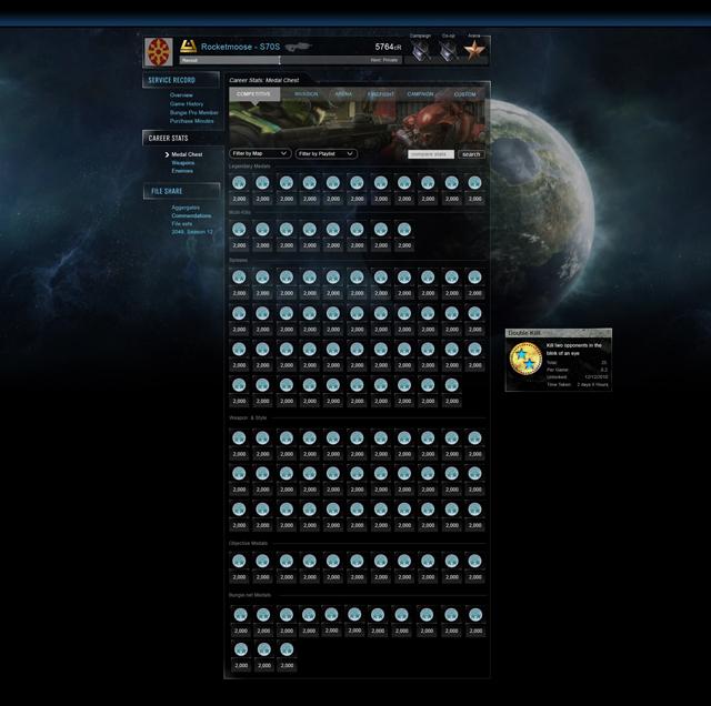 Bungie.net pour Halo Reach (Statistiques/Stats) Career10