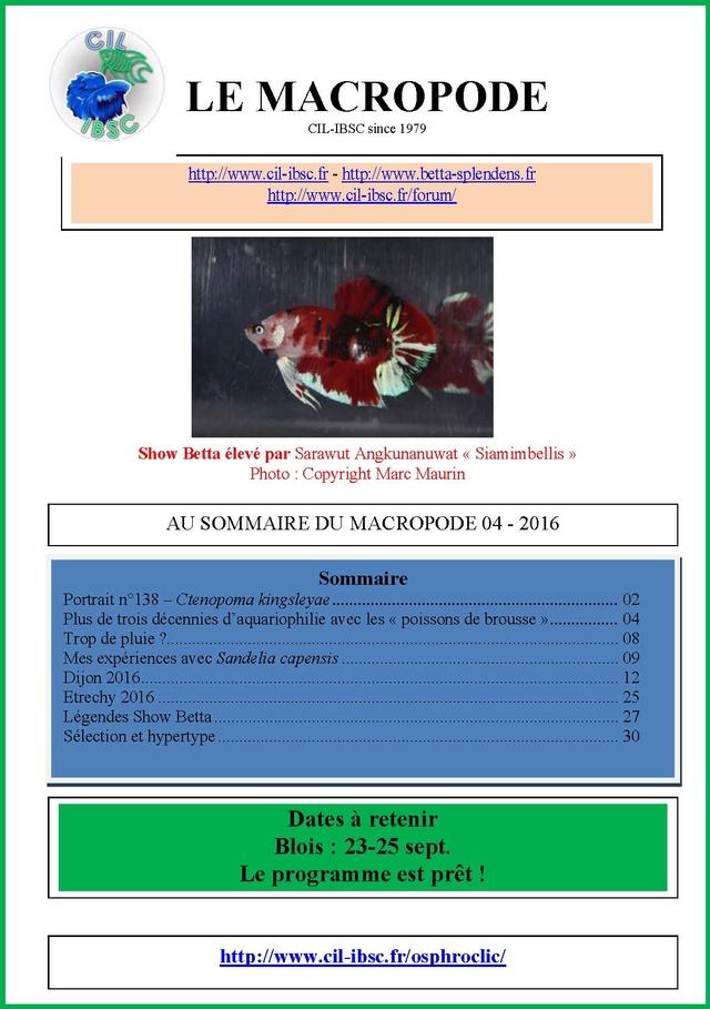 Sommaires revue du Macropode. - Page 2 2016-010