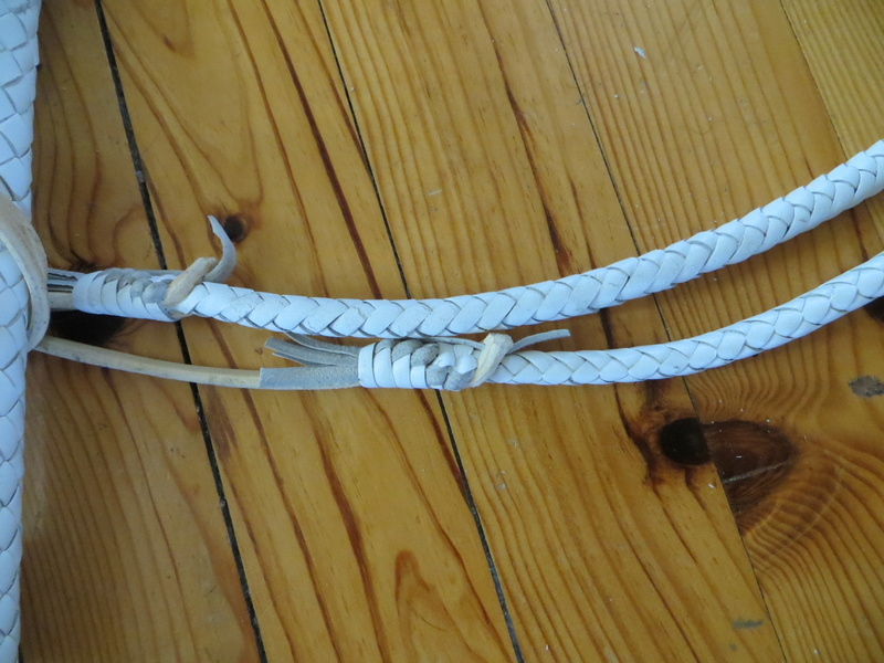 5 ft WHITE COWHIDE BULLWHIP PAIR Img_6411
