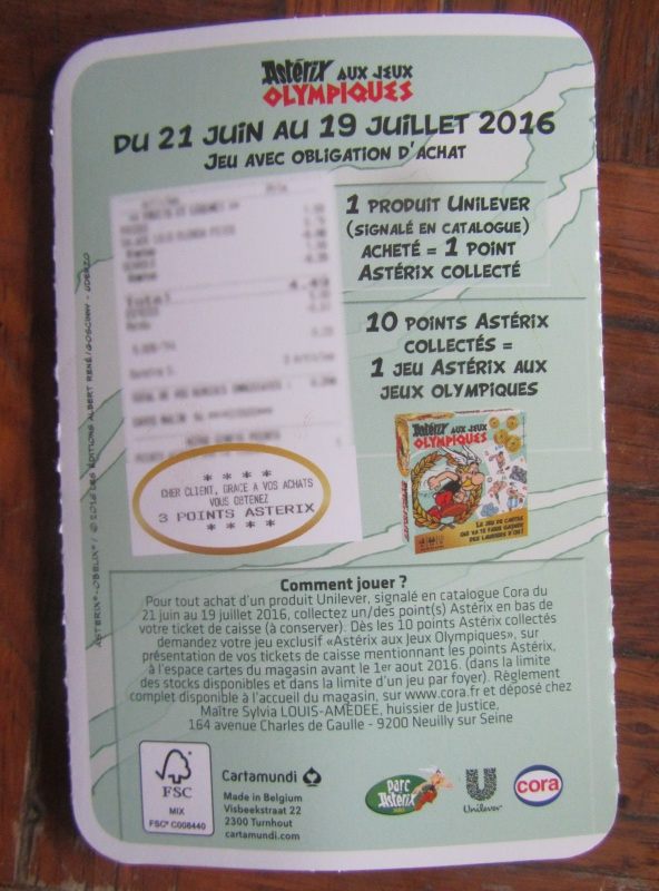 """Collection de cartes """"Astérix aux Jeux Olympiques""""  et balles magiques (cora et match) - Page 2 Cora_211"""