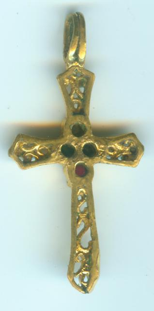 MAGNIFIQUE croix en or XVIIème !! Croixe11