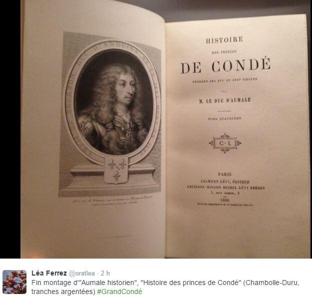 Chantilly, cabinet des livres : le duc d'Aumale historien 020