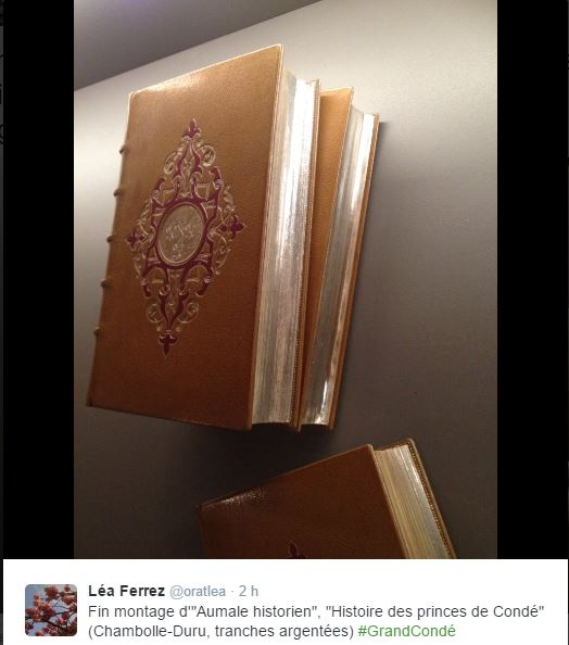 Chantilly, cabinet des livres : le duc d'Aumale historien 217